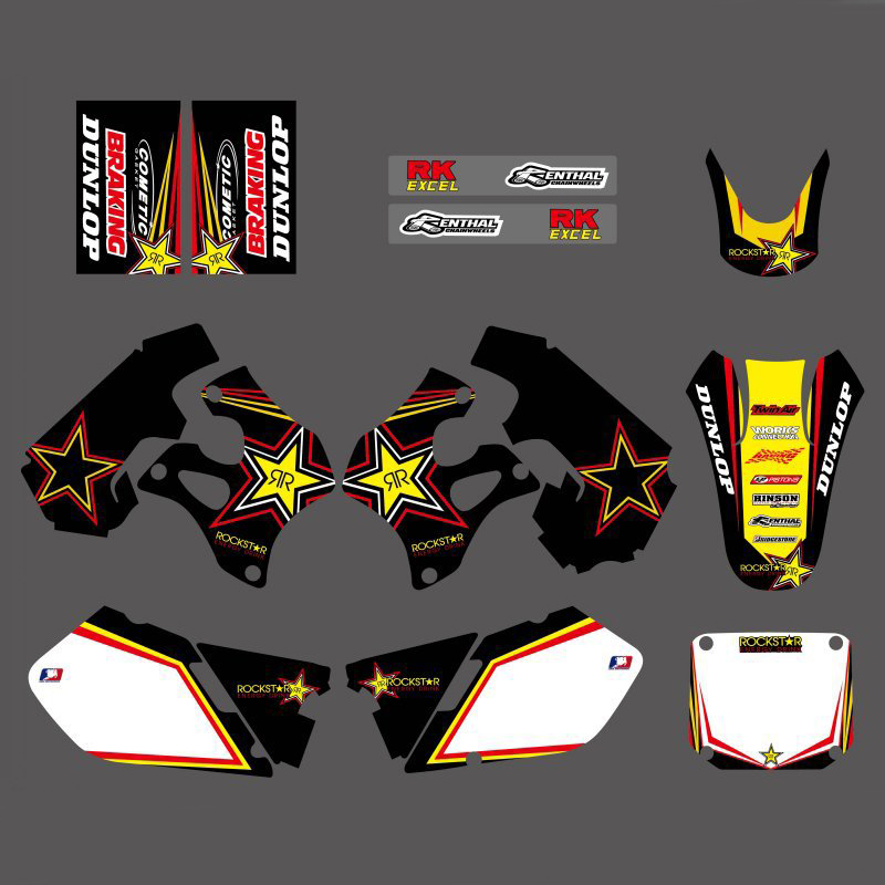 Motorcycle New Style Team Graphic Background Decal Sticker For Suzuki RM125 RM250 RM 125 250 1996