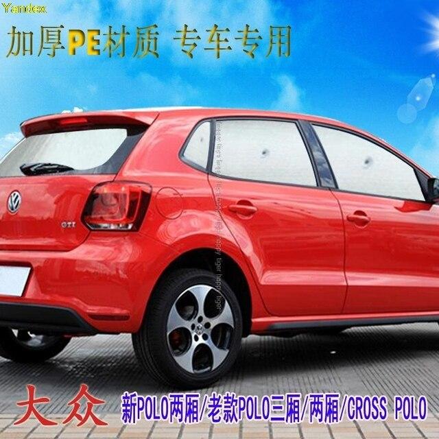 09661f9f6d0 Yandex for Volkswagen polo hatchback sedan car special car sun shade  thicker insulation baffles sunscreen sunshade