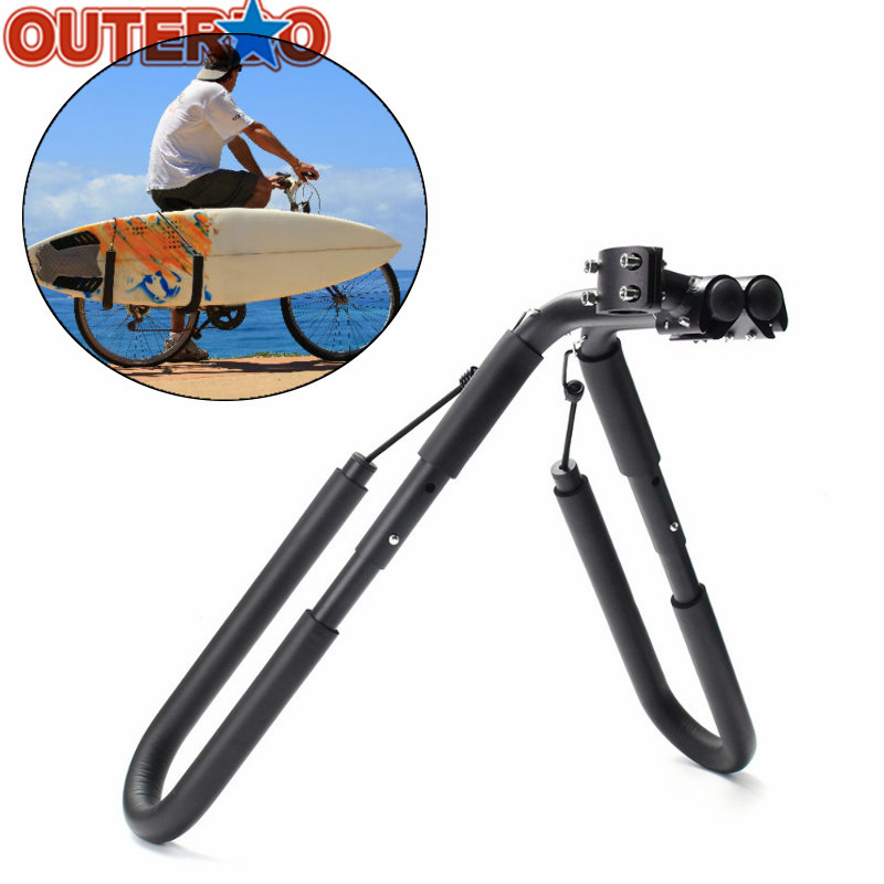Fits Surfboards Up to 8 Bike Mount Surfboard Wakeboard Racks Bicycle Surfing Carrier Mount to Seat Posts 25 to 32mm Accessories