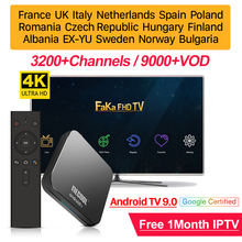 אירופה IPTV תיבת משלוח 1 חודש IPTV צרפת ערבית KM9 פרו חכם אנדרואיד טלוויזיה 9.0 תיבת קנדה ספרד איטליה פורטוגל IP טלוויזיה גרמניה IPTV