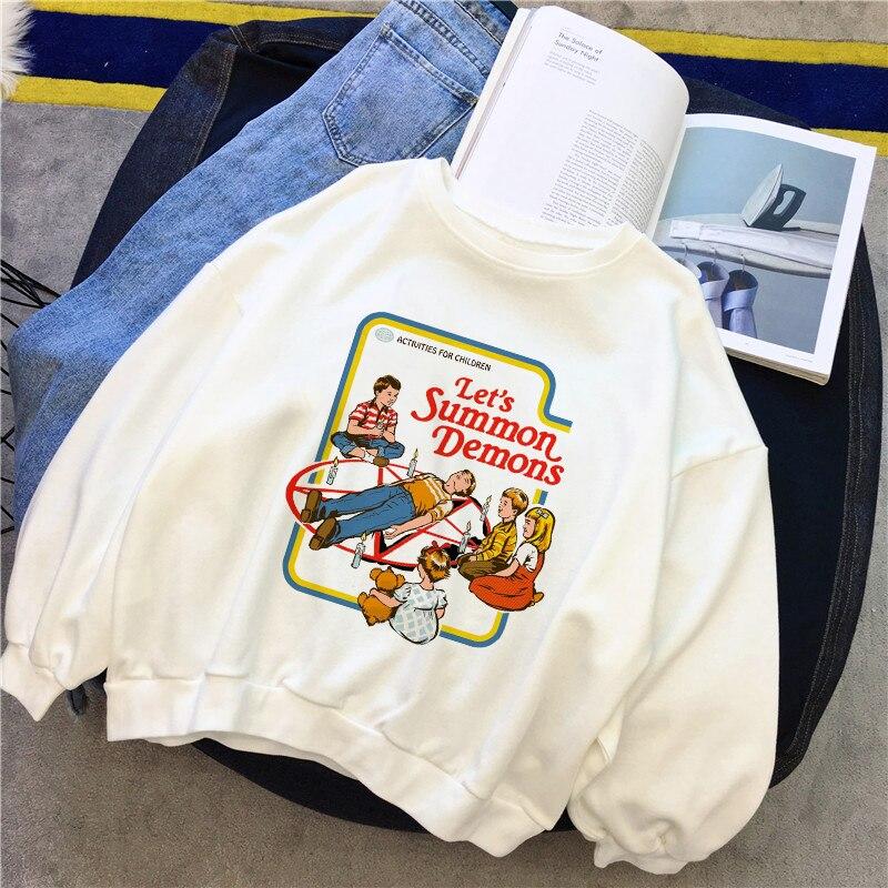Let S Summon Demons Sweatshirts Winter Female Fashion
