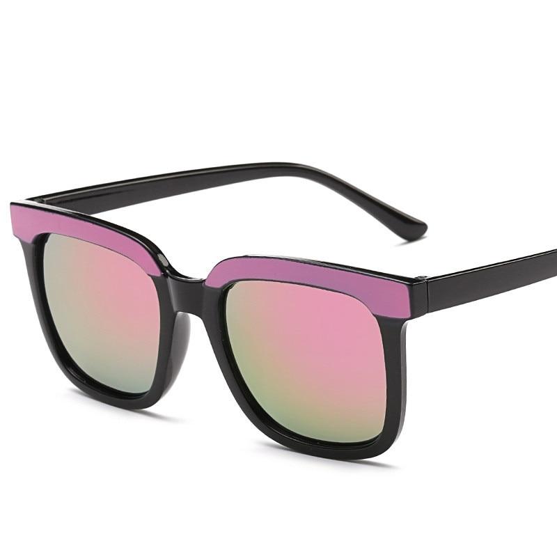 8df0b7e70dfa2 Novo Flat Top Espelho Óculos de Sol Óculos de Design Da Marca Mulher  Colorida Do Olho de Gato Do Vintage Óculos de Sol Para As Mulheres Lunettes  Gafas ...