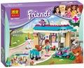 2016 Nueva BELA 203 unids Amigos 71085 Bloques Huecos de los Ladrillos Diy juguetes Educativos de la Clínica Veterinaria Compatible Legoe Amigos Para chica