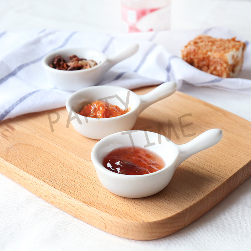 mini ceramic pickle dish appetizer dish round tableware sauce dishchina - Horderves Plates