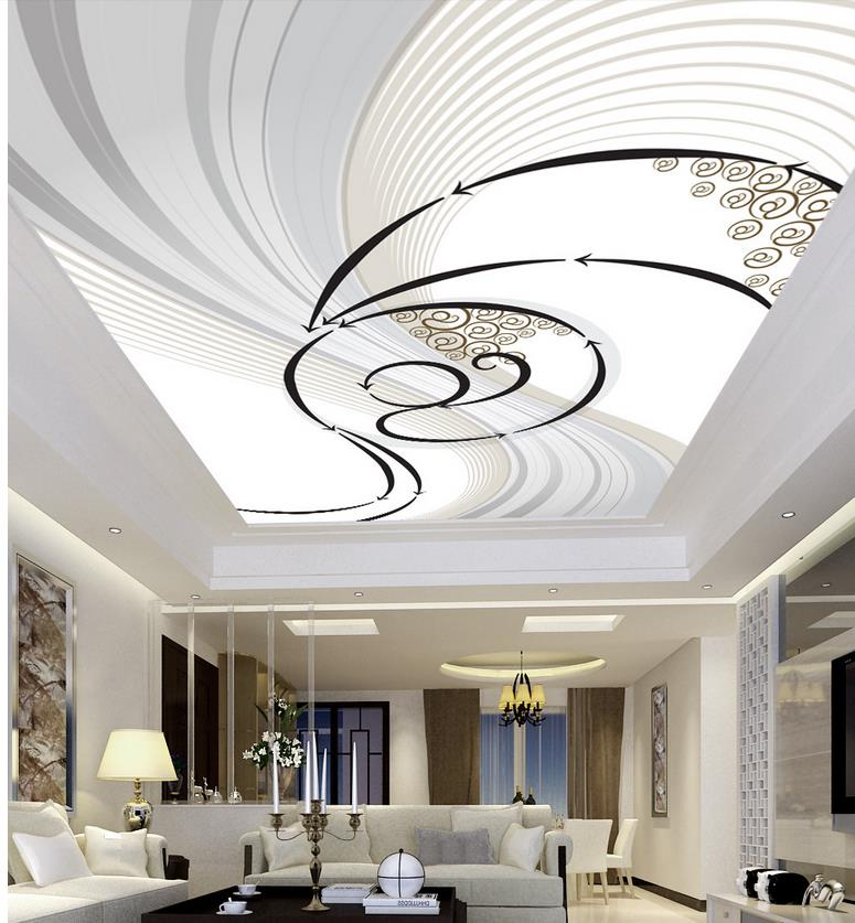 Custom 3d Mural Wallpaper European Style Abstract Dynamic Ceiling Designs Wall Decoration Non Woven Wallpaper Ceiling