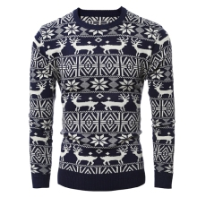 2017 Brand New Christmas Style Winter Pullover Sweater Men Deer Printed Long Sleeve Sweaters Male Casual Slim Fit Thick Sweaters