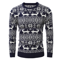 2018 Brand New Christmas Style Winter Pullover Sweater Men Deer Printed Long Sleeve Sweaters Male Casual