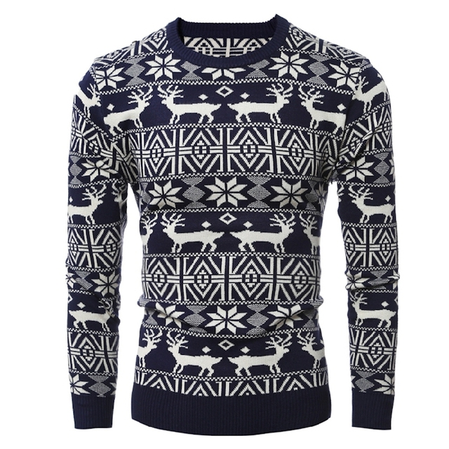 2b401c73eca42 2018 nuevo jersey de invierno de estilo navideño para hombre