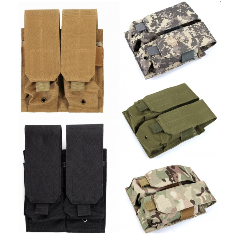 Revista Tactical Nylon Molle bolsas de doble bolsa del Mag 9 mm Pistola para la caza