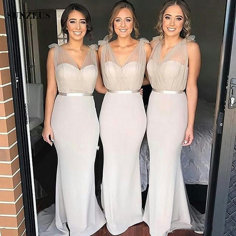 Trust LinDa Glamorous V-neck Mermaid   Bridesmaid     Dresses   Women's Bridal Party Wear   Dress   Custom Made Prom Gowns 2018 Plus Size