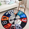 DeMissir Vintage Wall Clock Round Carpet Diameter 60 80 100 120 150cm Large Floor For Living