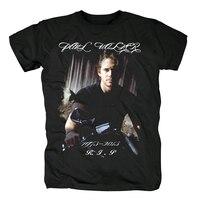 Free Shipping Fast And Furious R.I.P Paul Walker Men's T Shirt Fashion Short Sleeve 100% Cotton Black T shirt Tops Tees