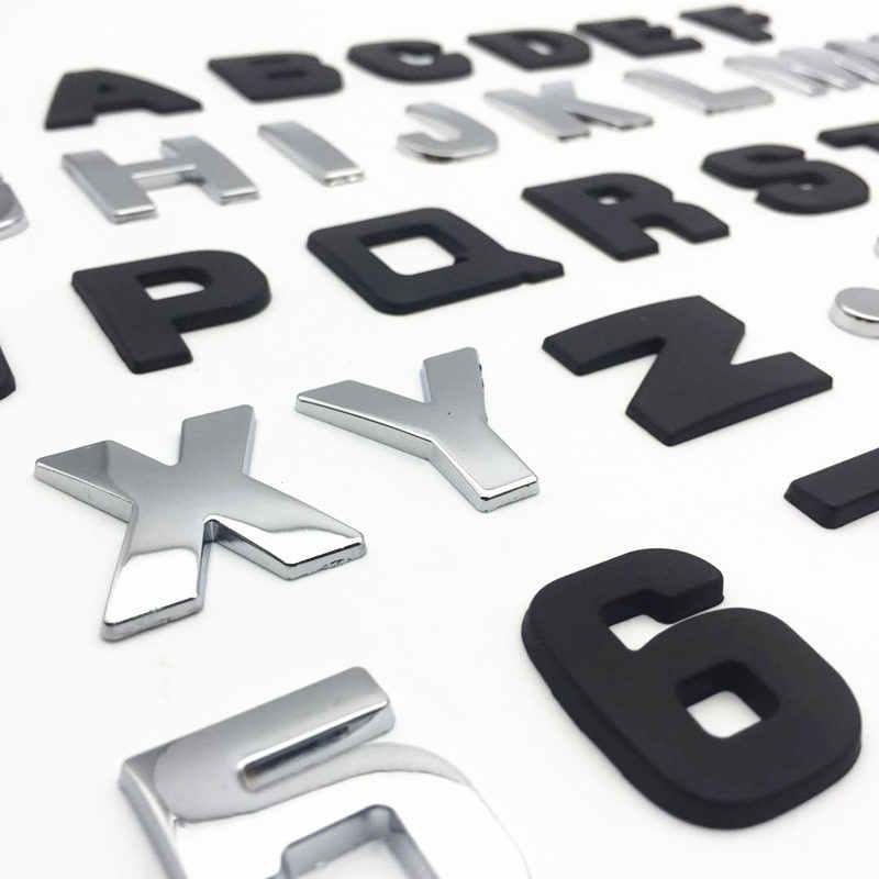 Fdik 25 Mm 3D Logam DIY Alfabet Huruf Emblem Chrome Stiker Mobil Lencana Digital Mobil Logo Aksesoris Mobil Sepeda Motor