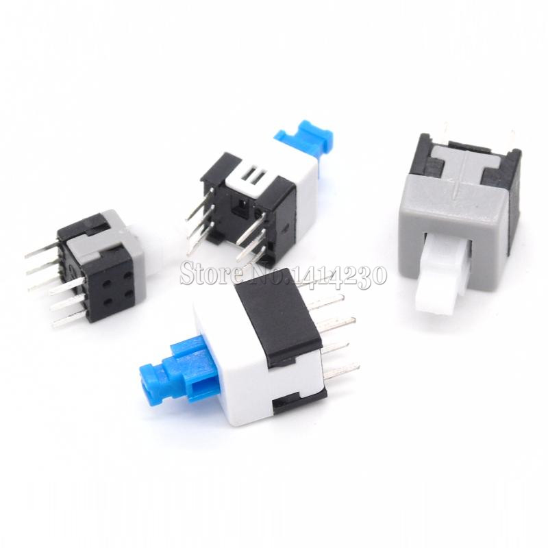#40PCS Push Button Switch Self Lock 7x7mm 8x8mm 8.5×8.5mm 5.8×5.8mm Micro Switch#
