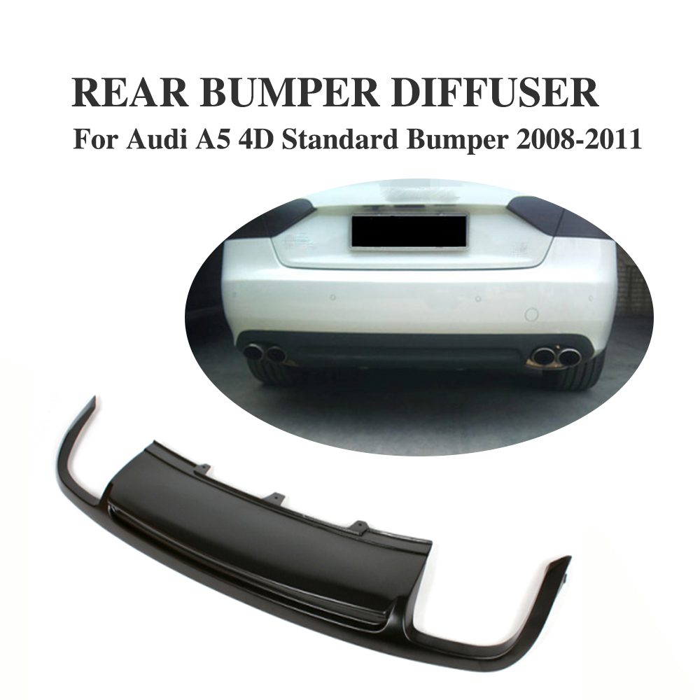 Rear Lip <font><b>Diffuser</b></font> Spoiler Fit For <font><b>Audi</b></font> <font><b>A5</b></font> <font><b>Sportback</b></font> 4 door Standard 2008-2011 Non-Sline image