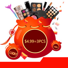 $4.99/3PCS and $7.99/5PCS Lucky Bag for Women Hot Selling Makeup Set Face Lips Eyes Concealer Eyeshadow Palette for Fans Gift(China)