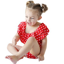 Mother Daughter Polka Dot Ruffle One Piece Swimsuit