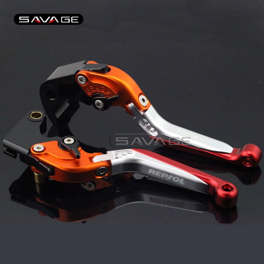 For HONDA CBR 600RR CBR600RR 2007-2016 Motorcycle Adjustable Folding Extendable Brake Clutch Levers logo REPSOL folding extendable brake clutch levers for honda cb919 cb900f hornet 900 2002 2007