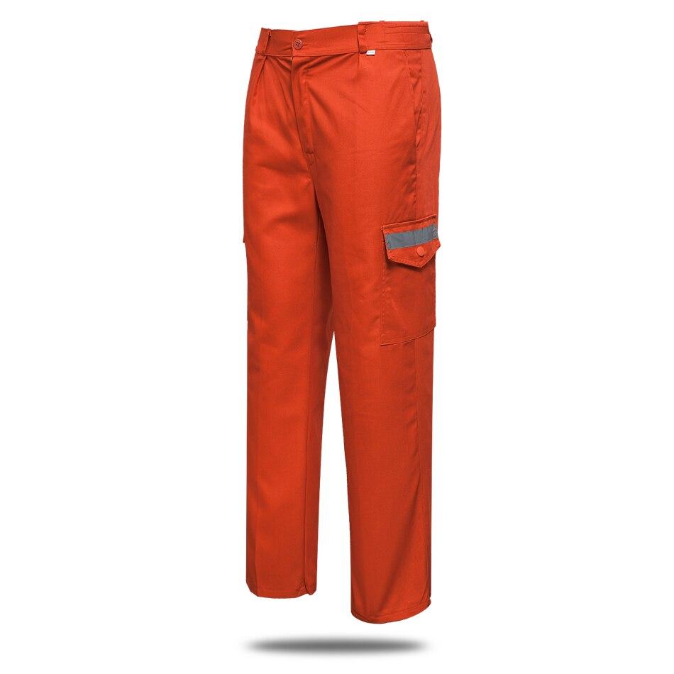 Orange Unisex Work Wear Set Sanitation Service Reflector Protective Clothes Men Workshop Coat with Pants Engineering Service Set