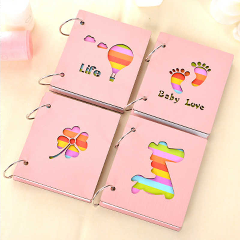 Baby Creative Souvenirs Child Multiple Styles Wooden Growth Albums Newborn Babies Hand And Foot Print Toddlers Photo Collections