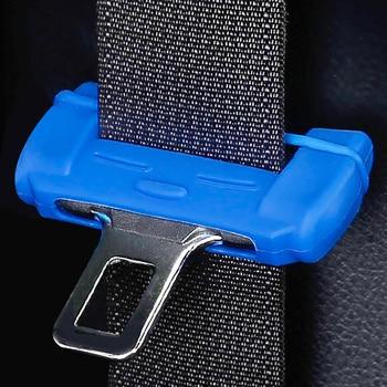 Cinturón de seguridad de coche Universal Protector de hebilla de silicona Anti-rayado hebilla para cinturón de seguridad Clip botón Interior funda Anti-rayado