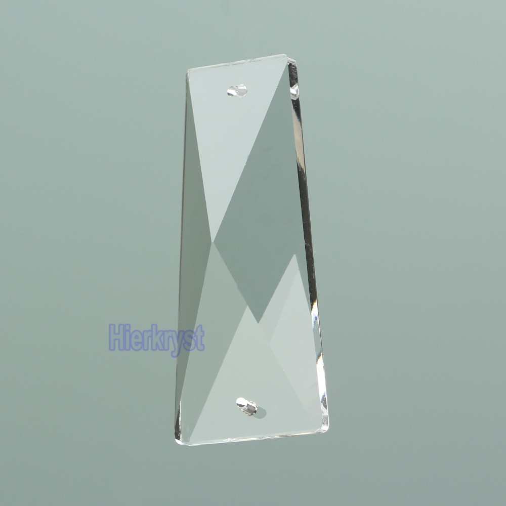 New Arrival K9 Clear Glass Crystal Chandeliers Lights Parts Pendants Trapezoid Crystals Lamp Drops 1pc/lot 58mm 2.28