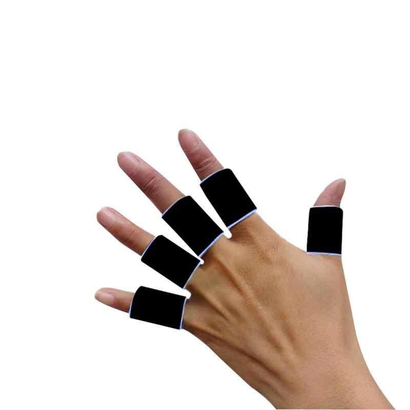10 piezas de baloncesto profesional de voleibol suave dedos cubiertas protectoras de dedos protectores de dedos (negro)