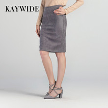 2017 Women Suede Midi Skirt