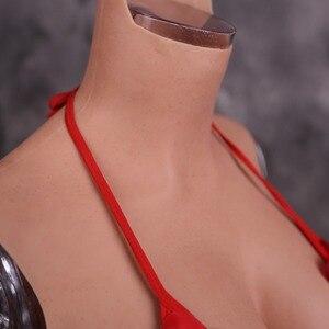 Image 5 - Dokier formas de mama de borracha de silicone para crossdresser falso peitos enormes peito busto arraste rainha sissy transgênero crossdressing