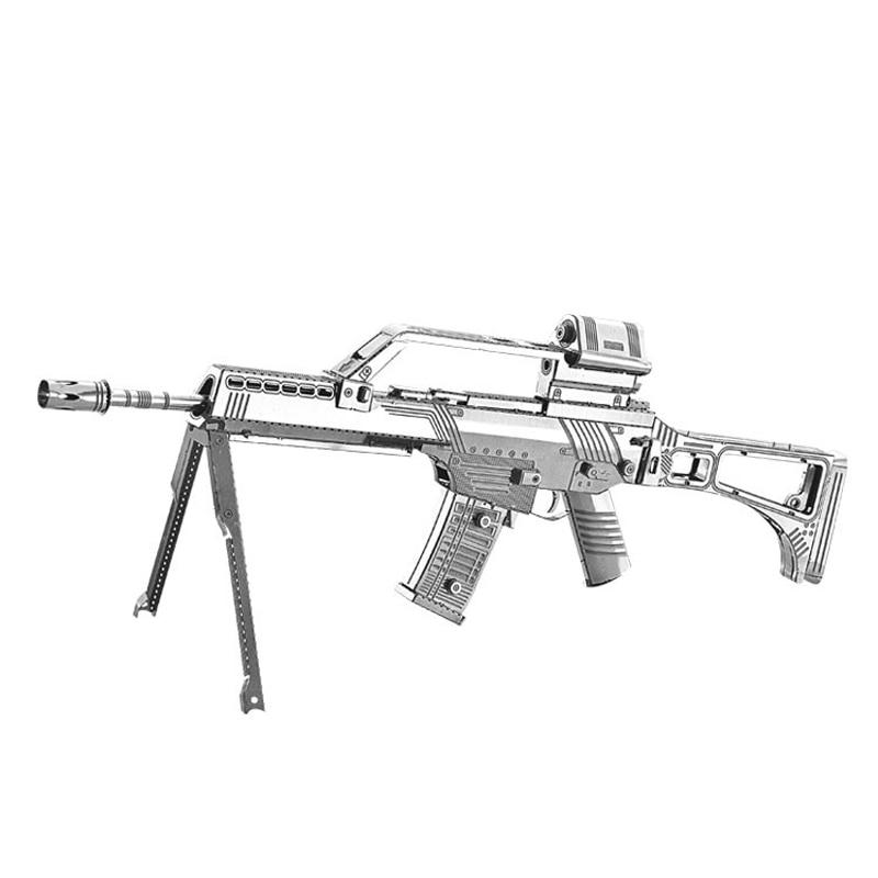 2018 Nan yuan 3D Rompecabezas de Metal Gewehr G36 pistola DIY Laser - Juegos y rompecabezas