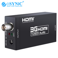 eSYNiC 3G HDMI To SDI Audio Converter With 5V/1A DC Power Supply Adapter BNC Output HDMI Input Port 2.970 Gbit/s 1080P Converter