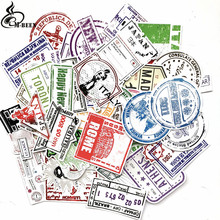 60pcs/lot Retro Traveling Boarding Pass Air Tickets creative Suitcase stickers for Laptop Luggage Bags Bike Phone Cool Sticker(China)