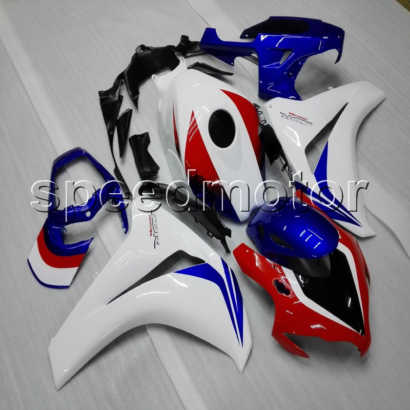 Custom+Screws+Injection mold white blue red ABS cover for CBR1000RR 2008 2011 CBR 1000 RR 2008 2009 2010 2011 motorcycle Fairing