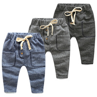 Kids Boys Pants for Retail New Spring Autumn Terry Cotton Pants Boys Casual Sports Trousers Harem for School Boy 2017 Fashion