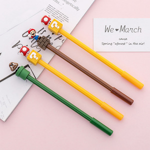 Image 5 - 30 pcs/lot Super Mario Gel Pen for writing Cute black ink Signature Pen Escolar Papelaria School Office Supply Promotional Gift