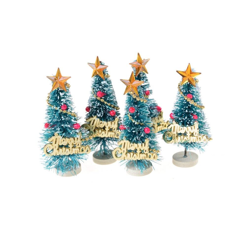 Mini Black Christmas Tree: Small Pine Trees Christmas Decoration Mini Snow Christmas