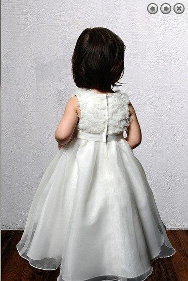 Gratis verzending nieuwe stijl 2016 Wedding Party Jurken Girl's Pageant Jurken Prinses jurken kralen boog trein Bloem Meisje Jurken - 3