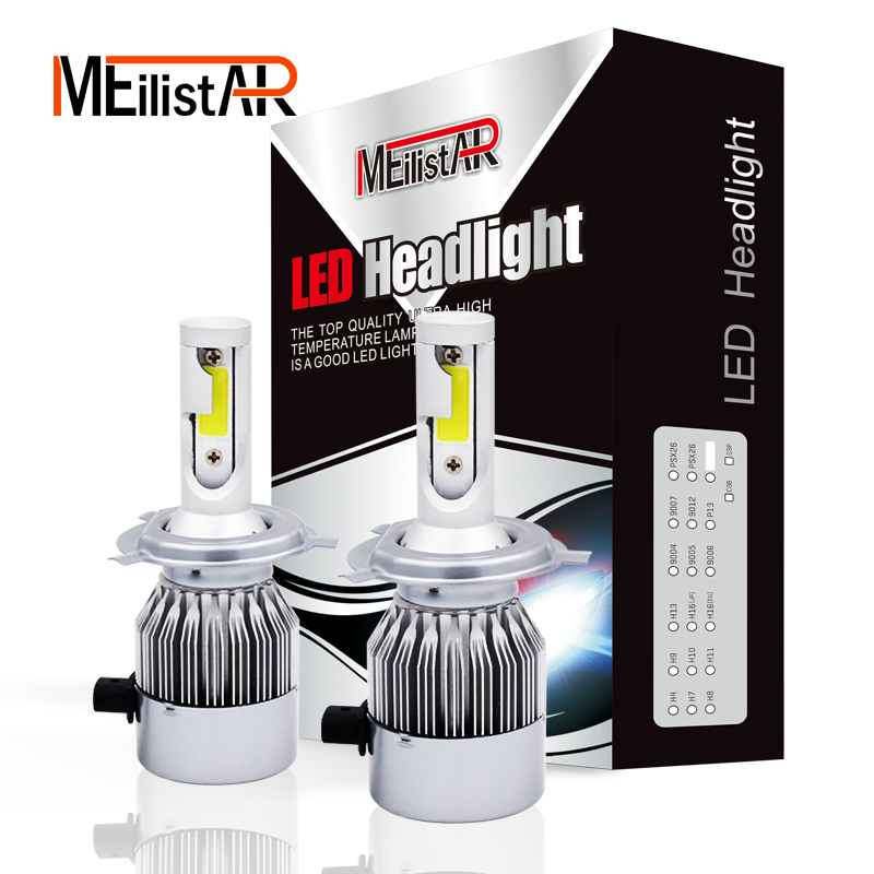 2pcs Car Headlights 72W 7600LM Led Light Bulbs H1 H3 H7 9005 9006 H11 H4 H13