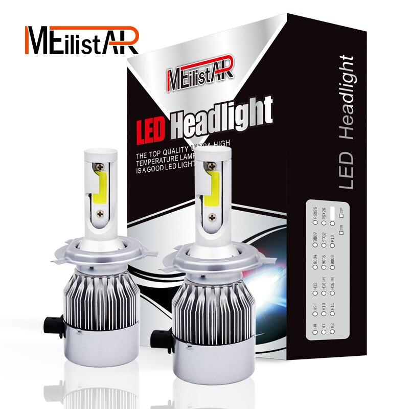 2pcs Car Headlights 72W 7600LM Led Light Bulbs H1 H3 H7 9005 9006 H11 H4 H13 9004 9007 Automobiles Headlamp 6000K Fog Lamps c6 12v led light auto headlamp h1 h3 h7 9005 9004 9007 h4 h15 car led headlight bulb 30w high single dual beam white light