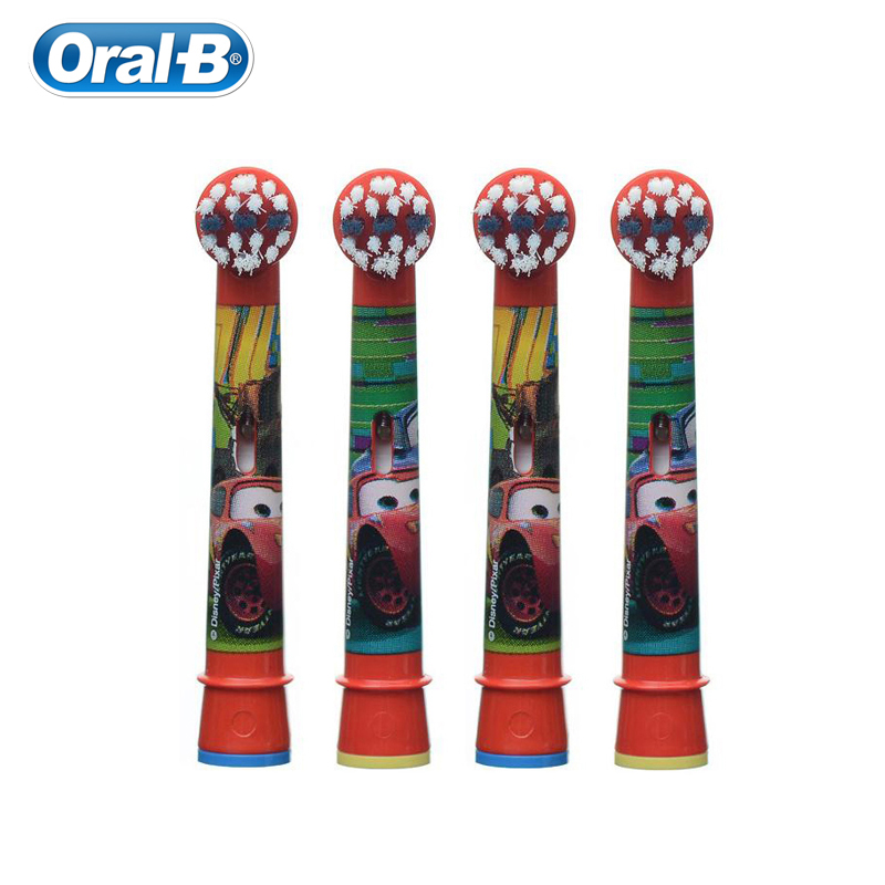 Oral B EB10 Repalceable Electric Toothbrush Heads Cars Version for All Oral B Children Rotation Electric Toothbrush image
