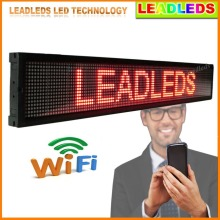Red Bright Leds Wifi/U disk Programmable LED Scrolling Message Sign Board for Advertising