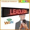 Vermelho Brilhante Leds Wi-fi/Programável LEVOU Mensagem de Rolagem Placa do Sinal para a Publicidade do disco de U