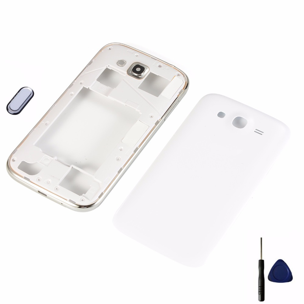 For Samsung Galaxy Grand Duos GT-I9082 I9082 9082 Housing Middle Frame+Battery Back Cover+Home Button Return Key Keypad+Tools