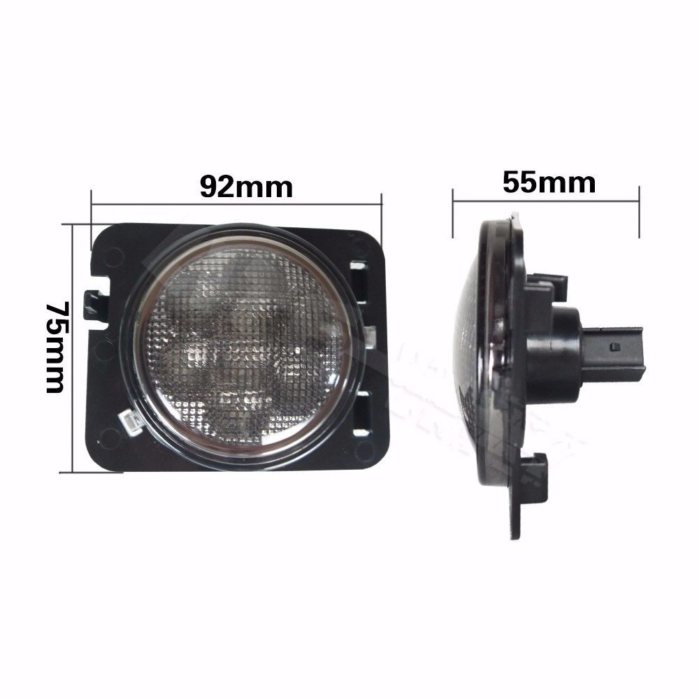 Front Smoked LED Turn Signal Fender Parking Side Marker Lights for Jeep Wrangler.jfpg.jpaag.jGpg
