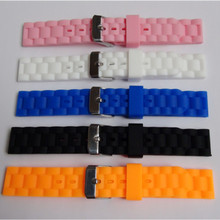 Rubber Watchband 16mm Men Women Silicone Watch Strap Band Soft Waterproofp For Any Replacement