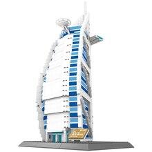 1307pcs set Famous Architecture Series The Burj Al Arab Hotel of Dubai 3D Model Building Blocks