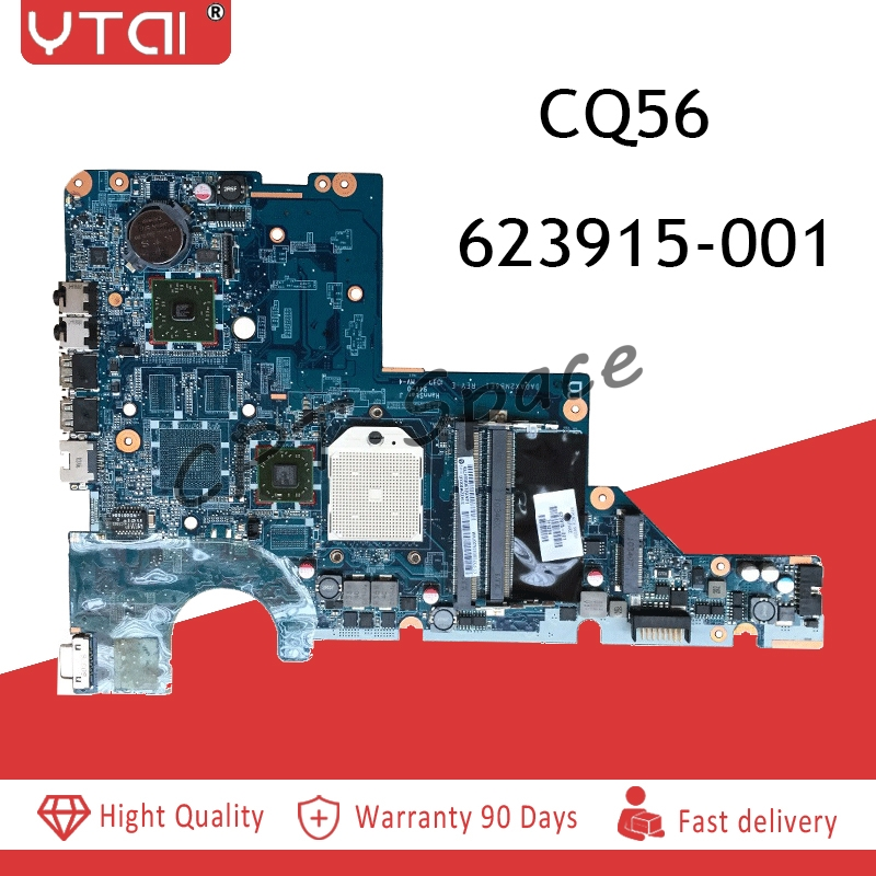 623915 001 CQ56 motherboard for HP CQ56 G56 CQ62 G62 laptop motherboard DA0AX2MB6E1 REV : E 100% test completed