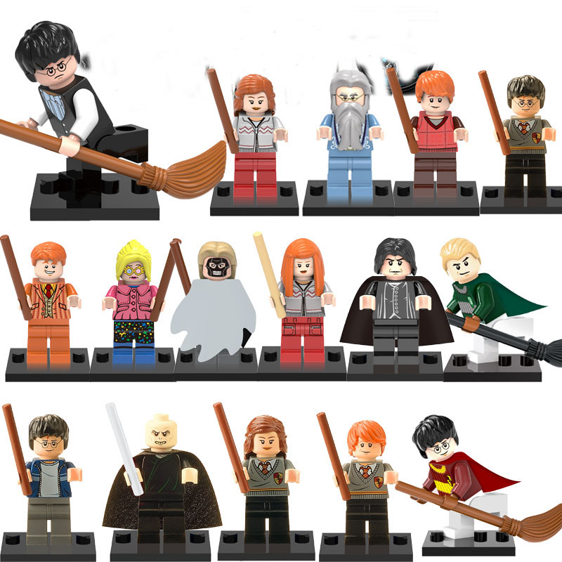 LEGOINGLYS Harry Potter Models Figures Hermione Jean Granger Ron Weasley Lord Voldemort Building Blocks DIY Toys For Children 1 6 scale sa0004 harry potter and the sorcerer s stone hermione granger collectible action figures dolls gifts