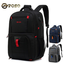 Casual Large Capacity USB Charge Men Backpack Nylon Waterproof Anti Theft 17.3 inches Laptop Sports Travel Bags