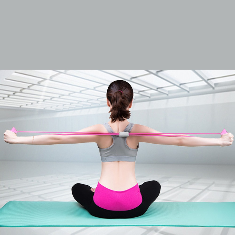 Honey 40cm Yoga Pull Rope Home Sport Fitness Yoga 8 Shape Pull Rope Tube Equipment Tool Gym Exercise Rally
